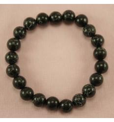 Smukt naturligt armbånd, Cracked black