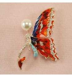 Fantastisk Rød Sommerfugl