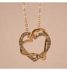 Charmerende hjerte halskæde