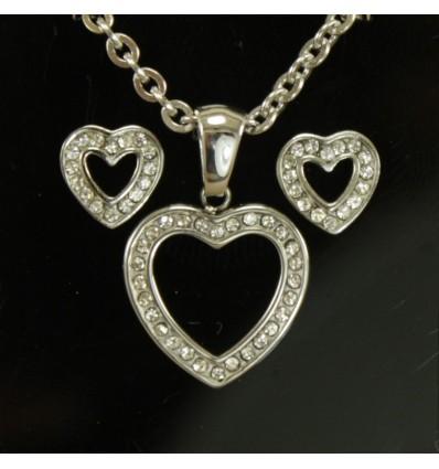 Hjerte smykkesæt
