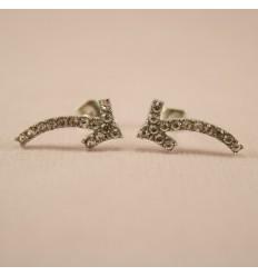 Halskæde med simili perler, sølvfarve