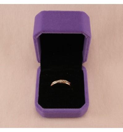 Elegant ring, sølvfarve