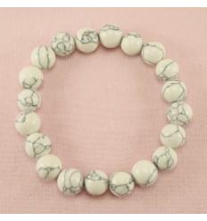 Smukt naturligt armbånd, Cracked white
