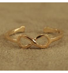 Infinity tåring, guldfarvet