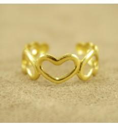 Guldfarvet hjerte tåring