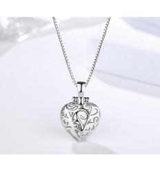 925 Hjerte Halskæde med ring