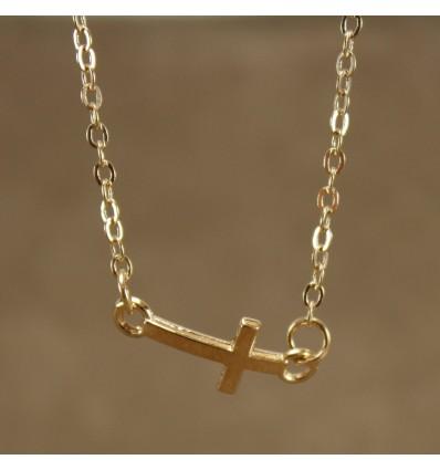 Sidelæns kors, guldfarve