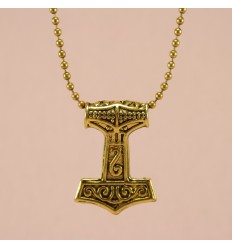 Thors hammer - Guldfarve