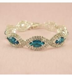 Glitrende armbånd, blå