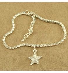 Bling ankelkæde med stjerne