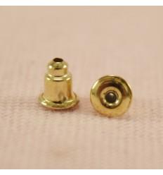 Gummilåse med metalkappe, guldfarve