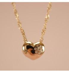 Hjerte med små krystaller
