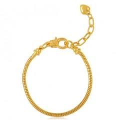 Guldfarvet hjerte armbånd