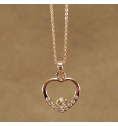 Smuk hjerte halskæde