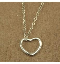 Enkel hjerte halskæde
