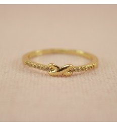 Uendeligheds ring med små zirkoner