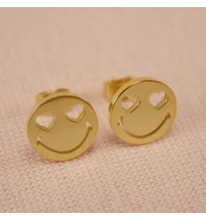 Smiley Ørestik - Guldfarve