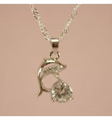 Delfin med små krystaller