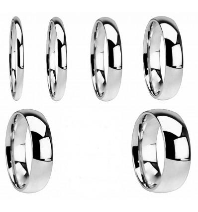 Klassisk blank ring - Flere størrelser