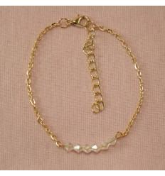 Ankelkæde - Klare perler