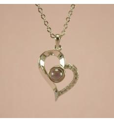 Elsker dig hjerte, sølvfarve