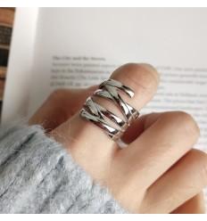 925 Bred Krydset Ring