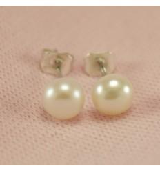Perle ørestikkere - Hvide
