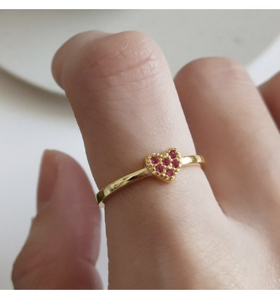 Little Pink Heart - Forgyldt