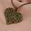 Hjerte halskæde, bronze