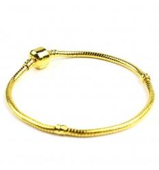 Guldfarvet armbånd til charms