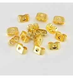 Guld metal låse til øreringe, 2 stk