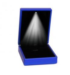 Eksklusiv blå smykkeæske