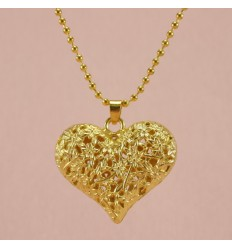 Hjerte halskæde, guld