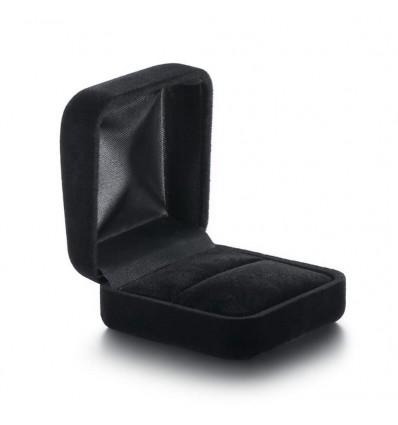 Klassisk ringæske til 1 ring, sort/sort