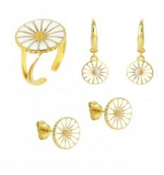 925 Klassisk Marguerit Smykkesæt