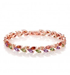 Multifarvet krystal armbånd