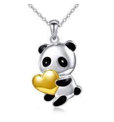 Sød Panda med guldhjerte