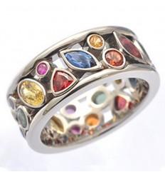 Farvestrålende Ring