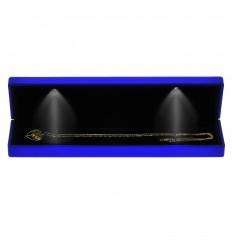 Eksklusiv blå æske til halskæde eller armbånd