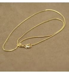 Guldfarvet halskæde, u/ vedhæng