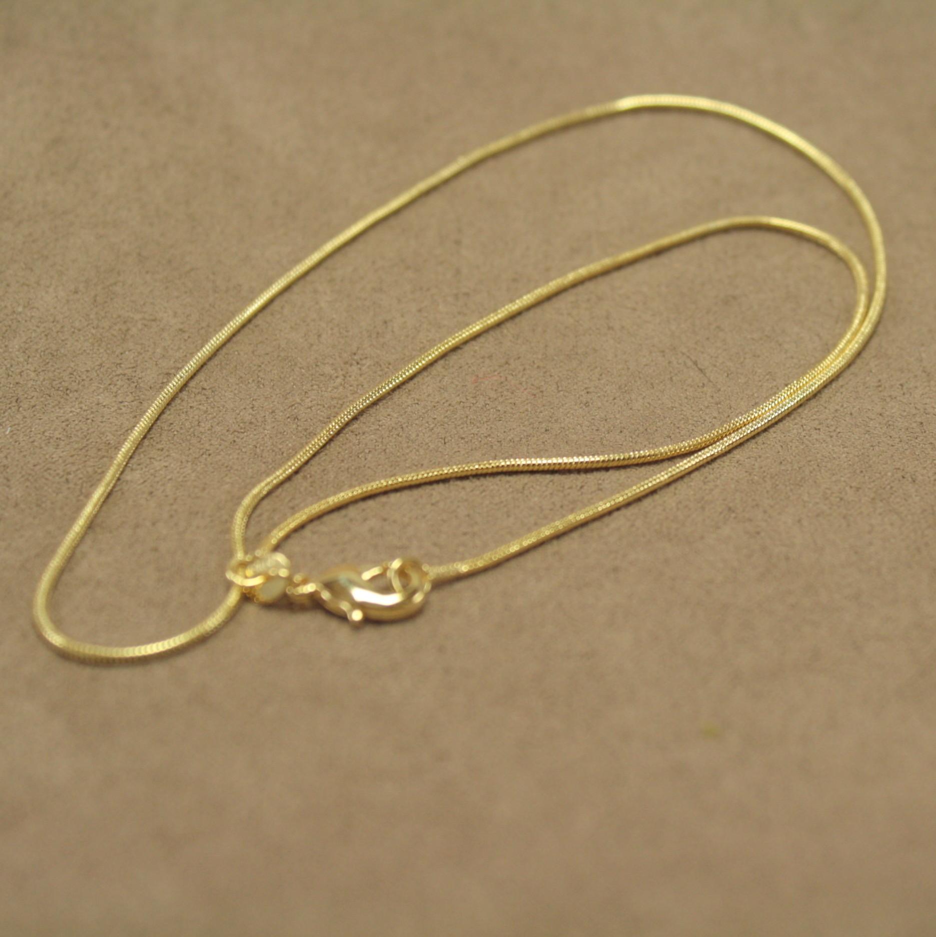 e98a216daa0 Guldfarvet halskæde, u/ vedhæng ...