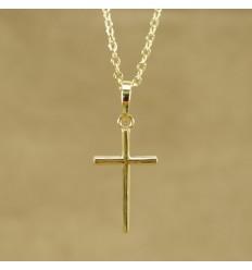 Minimalistisk guldfarvet kors