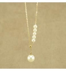 Halskæde med simili perler