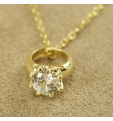Ring halskæde, guldfarve