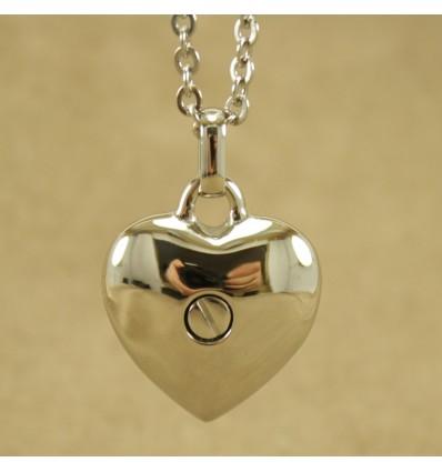Hjerte halskæde med skrue