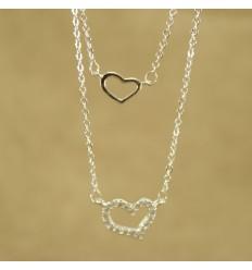 Dobbelt hjerte halskæde