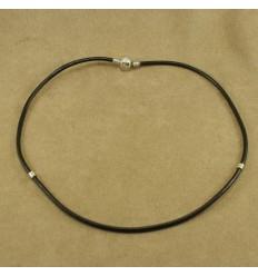 Læder halskæde