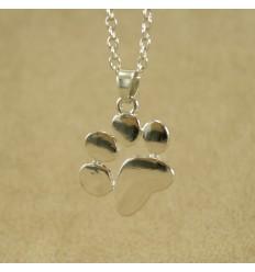 Pote halskæde, sølvfarve