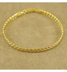 Smukt guldfarvet armbånd